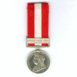 Canada General Service Medal with Fenian Raid 1866 bar